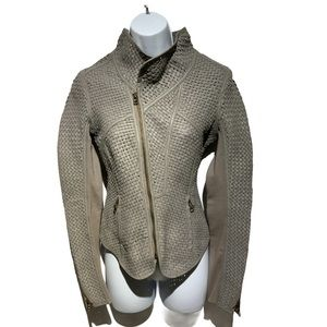 Improvd Moto Woven Leather Jacket